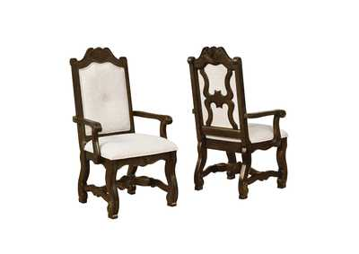 Pierre White Assembled Arm Dining Chair [2/ctn]