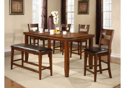 Image for Figaro Brown Rectangular Counter Height Table