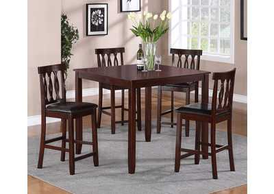 Soledad Counter Height Dinette Set w/ 4 Side Chairs
