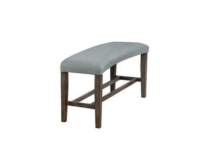 Hollis Grey Upholstered Dining Bench
