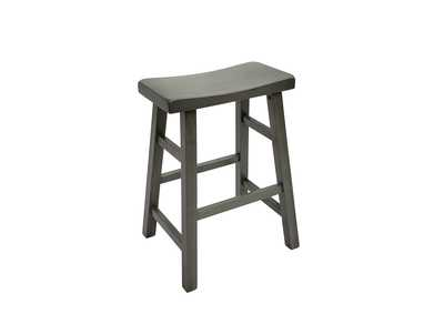 Kirin Grey Assembled Saddle Stool [2/ctn]