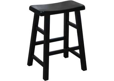 Image for Kirin Black Single Saddle Stool