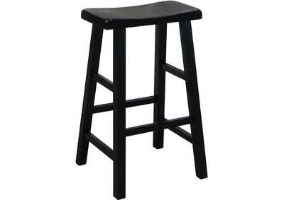 Kirin Black Assembled Saddle Stool [2/ctn]