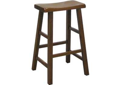 Kirin Dark Oak Assembled Saddle Stool [2/ctn]