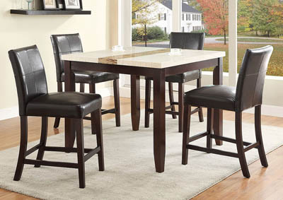 Larissa Counter Height Dining Room Table w/4 Counter Height Chairs