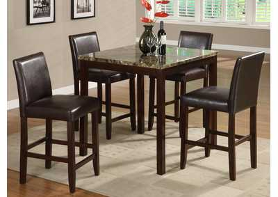 Anise Counter Height Dining Room Table w/4 Counter Height Chairs