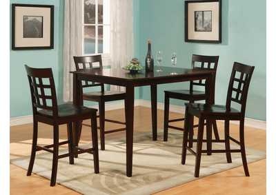 austin counter height dining room table w4 counter height chairs - Affordable Dining Room Tables