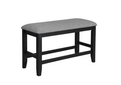 Fulton Black Counter Height Bench