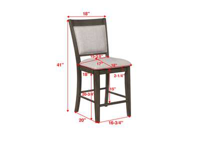 Fulton Grey Assembled Counter Height Side Chair [2/ctn]