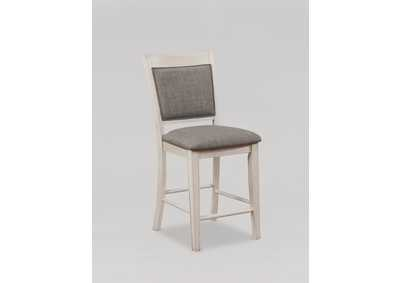 Fulton White Assembled Counter Height Side Chair [2/ctn],Crown Mark
