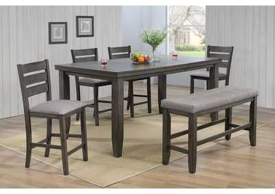 Image for Bardstown Gray Dining Table w/4 Side Chairs and a Bench