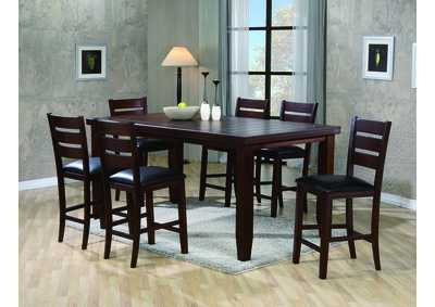Image for Bardstown Counter Height Extension Dining Table w/ 6 Side Chairs