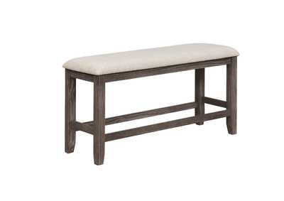 Regent White Counter Height Bench