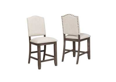 Regent White Assembled Counter Height Side Chair [2/ctn]