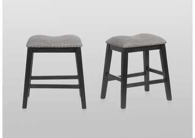 Image for Maskey Charcoal Counter Height Stools [2/ctn]