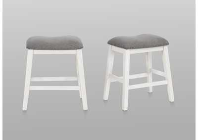 Maskey White Counter Height Stools [2/ctn]