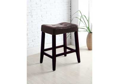 Image for Kent Espresso Saddle Stools [2/ctn]