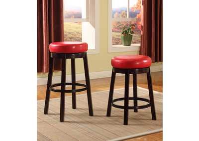 Wendy Red Swivel Pub Stool (Set of 2)
