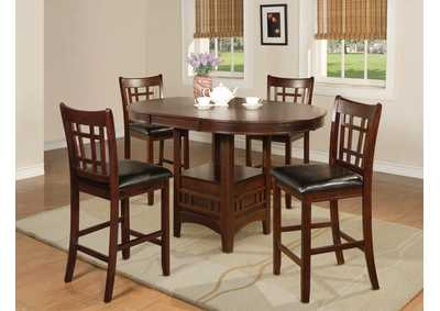 Hartwell Cherry Counter Height Dining Table w/1 18