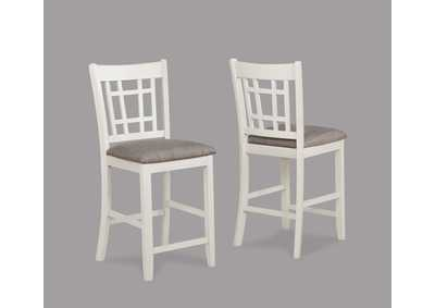 Image for Hartwell White & Brown Counter Height Chairs [2/ctn]