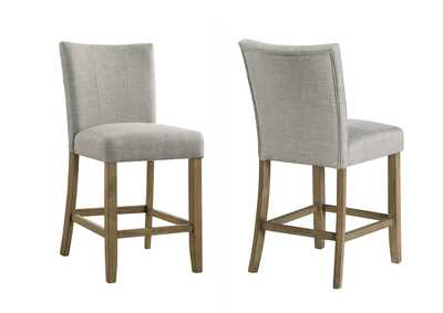 Image for Mike Grey Counter Height Chairs [2/ctn]