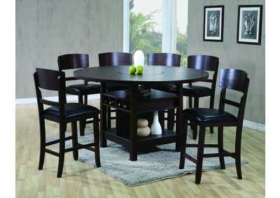 Conner Espresso Counter Height Table w/4 Side Chairs