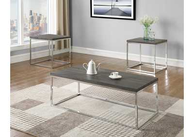 Image for Britt Grey Cocktail Table W/ 2 End Tables