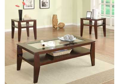Image for Scott Brown Cocktail Table W/ 2 End Tables