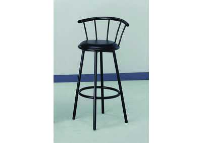 Swivel Black Bar Chair (Set of 2)