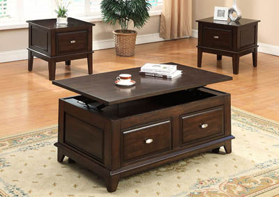 Harmon Lift Top Occasional Table Set (Cocktail & 2 Ends)