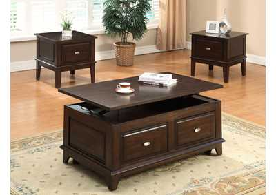 Harmon Brown Lift Top Coffee Table W/Caster