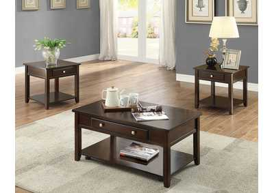 Image for Julian Brown Lift Top Coffee Table W/Caster