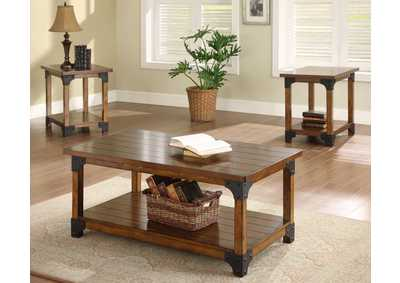 William Brown Caster Mounted Cocktail Table W/ 2 End Tables