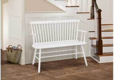 Jerimiah White Spindleback Bench