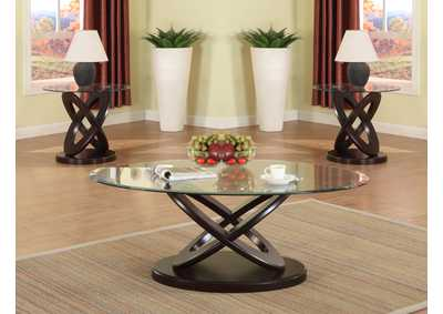 Cyclone Glass Top Coffee Table