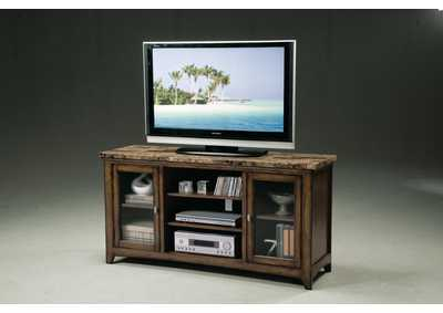 Brown Entertainment Console W/ Storage