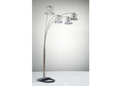 Image for Rain Drop Pewter Arc Lamp