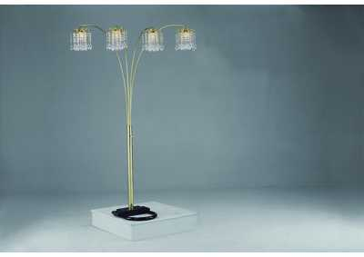 Image for Rain Drop Gold Arc Lamp