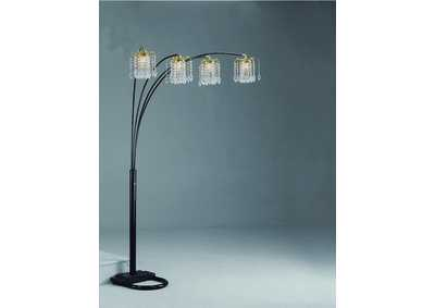 Image for Rain Drop Black Arc Lamp