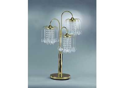 Image for Rain Drop Gold Table Lamp