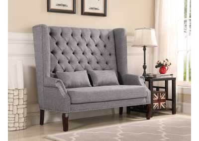 Kaylee Grey High-Backed Loveseat