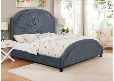 Annette King Bed Grey
