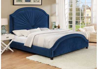 Annette King Bed Navy
