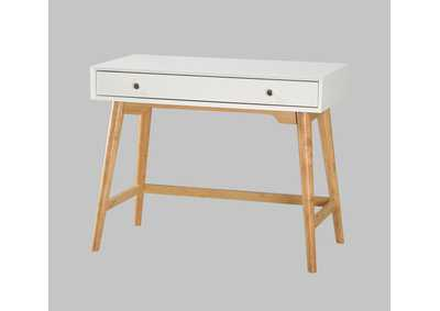 Kurt White Desk w/Drawer