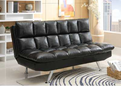Sundown Black Adjustable Sofa
