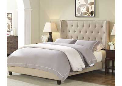 Gaby Gold Twin Bed W/ Adjustable HB