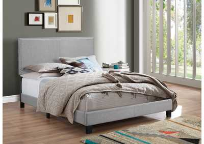 Erin Grey Upholstered Full Platform Bed