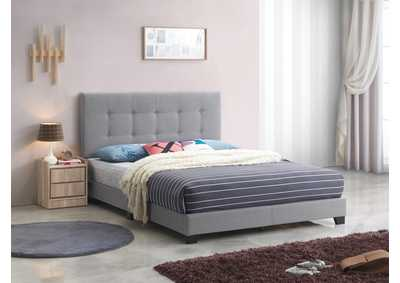 Image for Rigby Grey Platform Full Bed W/ Adjustable HB
