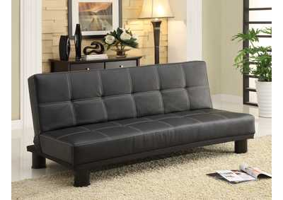 Collin Black Adjustable Sofa
