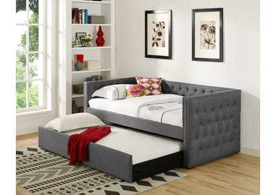 Trina Grey Upholstered Daybed